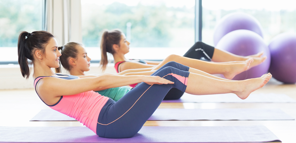 group of people in pilates classes